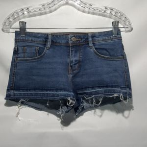 Trafaluc Zara Stretch Low Rise Denim Shorts Size 2